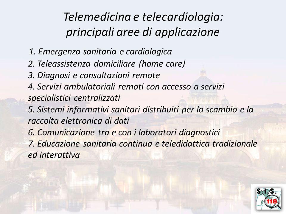 Telemedicina e telecardiologia: principali aree di applicazione 1.