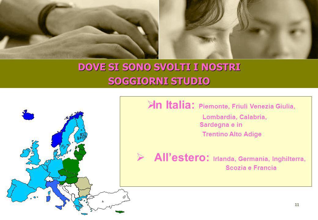 10 IL NOSTRO PROGETTO PRINCIPALE: OFFRIRE OPPORTUNITÁ LAVORATIVE NEI SOGGIORNI STUDIO ESTIVI IN ITALIA E ALL'ESTERO  LA RICERCA  LA SELEZIONE  LA F
