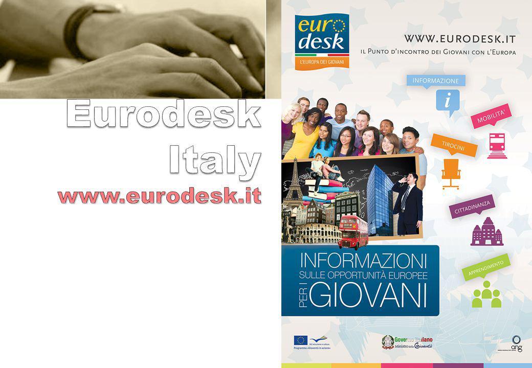 3 L'EURODESK E Eurodesk è una rete europea specializzata nel servizio di informazione e orientamento per promuovere i programmi che favoriscono la mob