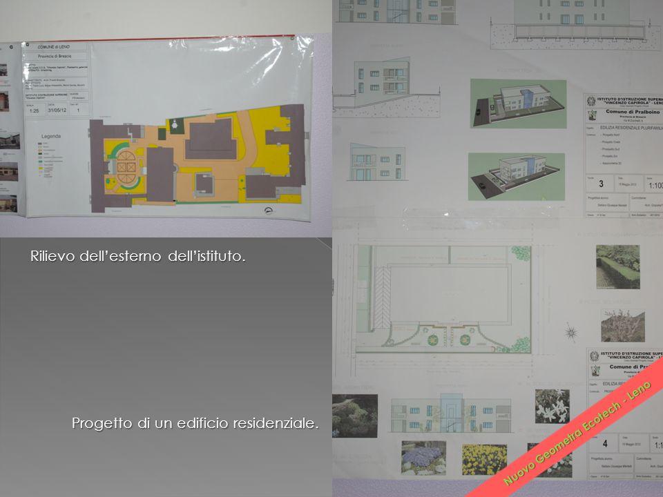 Rilievo dell'esterno dell'istituto. Progetto di un edificio residenziale. Nuovo Geometra Ecotech - Leno