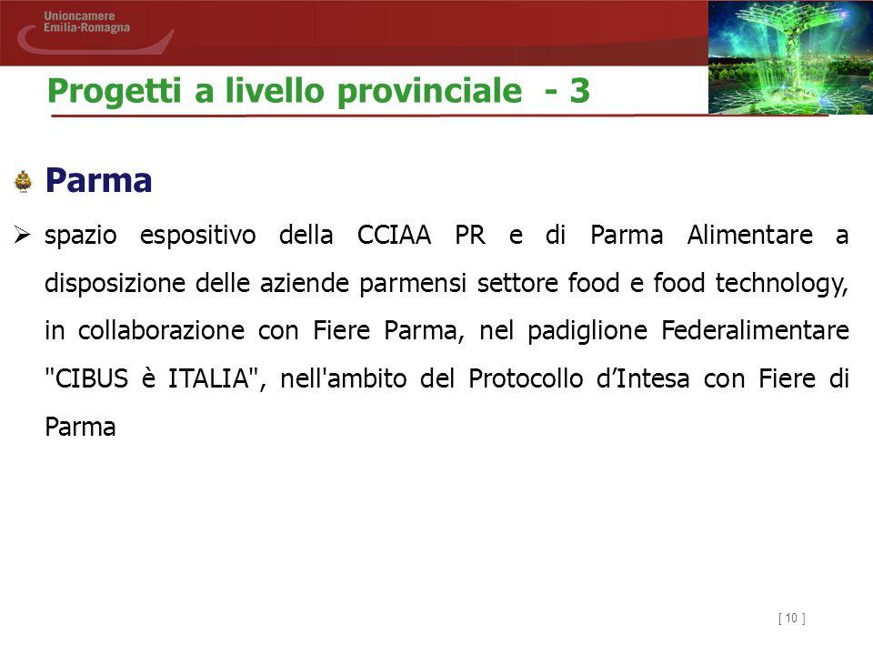 [ 10 ] Parma  spazio espositivo della CCIAA PR e di Parma Alimentare a disposizione delle aziende parmensi settore food e food technology, in collabo