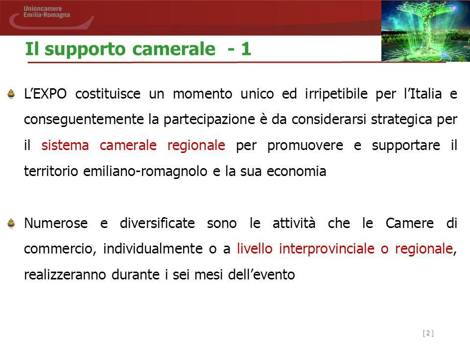 [ 2 ] L'EXPO costituisce un momento unico ed irripetibile per l'Italia e conseguentemente la partecipazione è da considerarsi strategica per il sistem