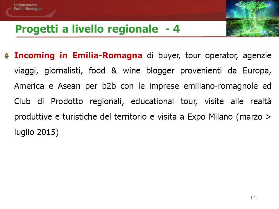 [ 7 ] Incoming in Emilia-Romagna di buyer, tour operator, agenzie viaggi, giornalisti, food & wine blogger provenienti da Europa, America e Asean per