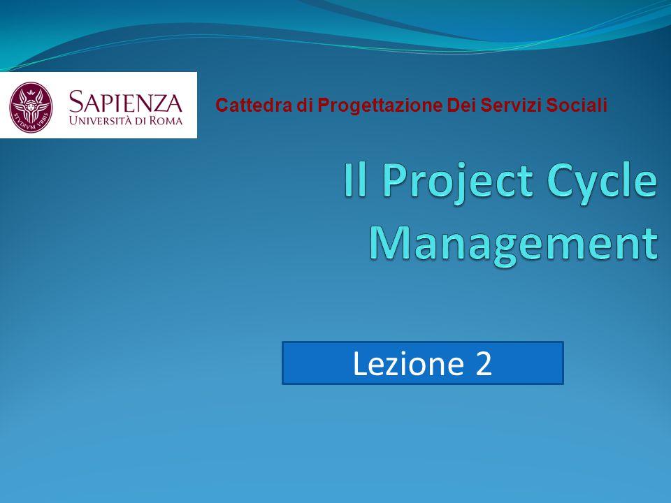 Cattedra di Progettazione Dei Servizi Sociali Lezione 2