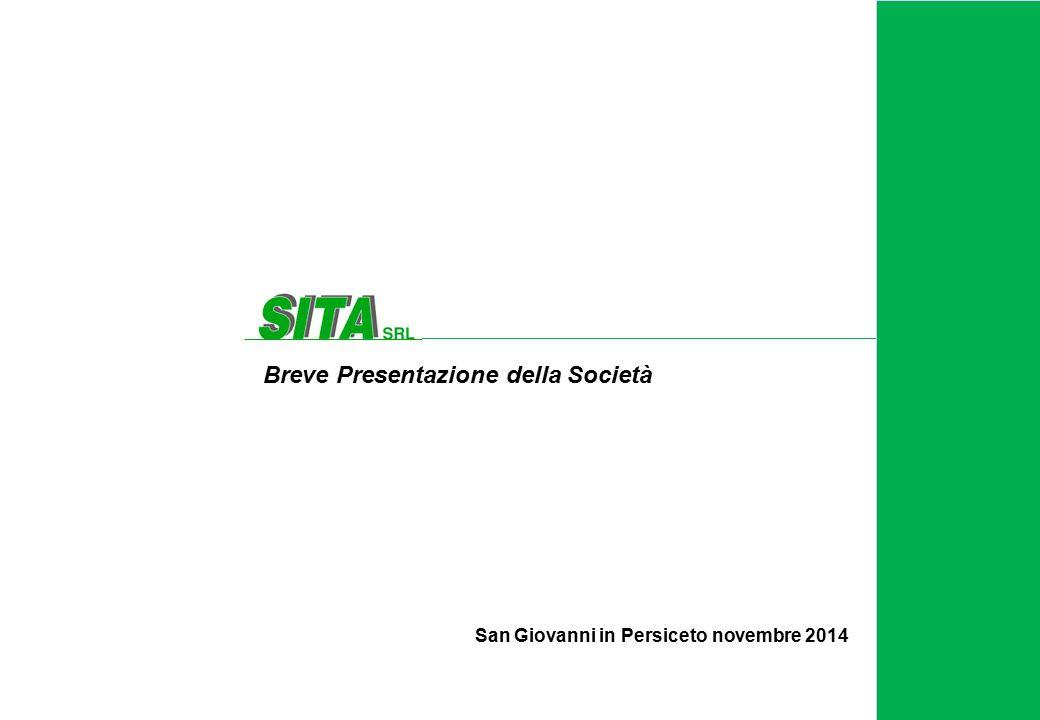 San Giovanni in Persiceto novembre 2014 Breve Presentazione della Società