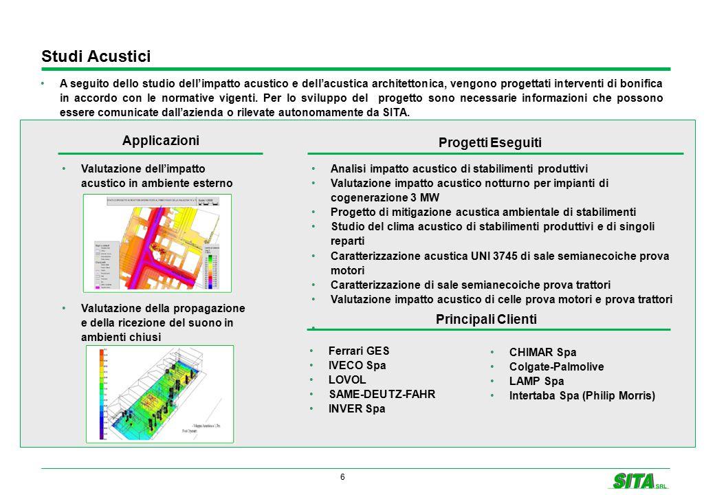 6 A seguito dello studio dell'impatto acustico e dell'acustica architettonica, vengono progettati interventi di bonifica in accordo con le normative v