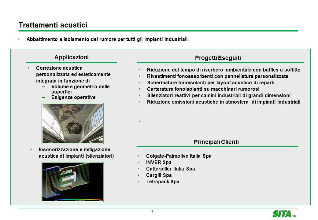 7 Trattamenti acustici Abbattimento e isolamento del rumore per tutti gli impianti industriali. Correzione acustica personalizzata ed esteticamente in