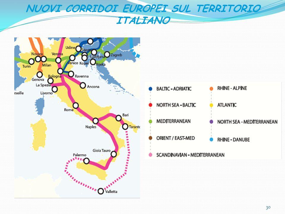 NUOVI CORRIDOI EUROPEI SUL TERRITORIO ITALIANO 30
