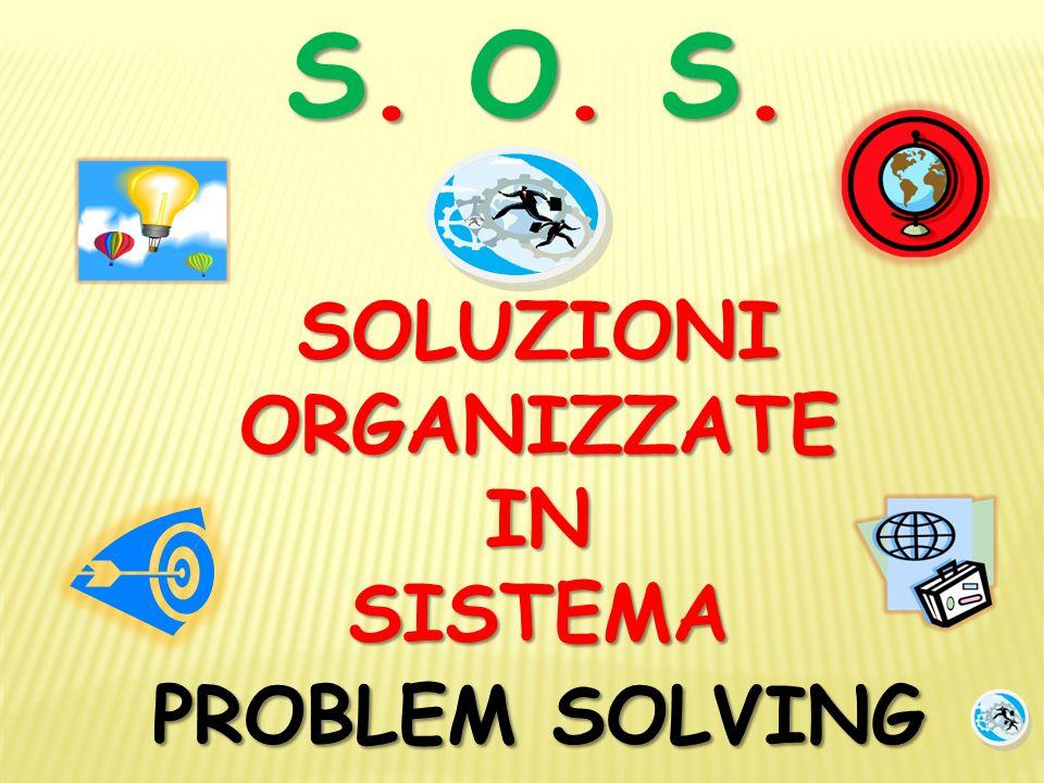 S. O. S. SOLUZIONIORGANIZZATEINSISTEMA PROBLEM SOLVING