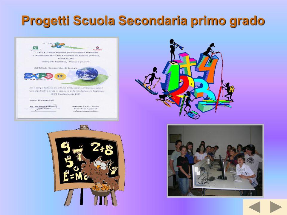 Progetti Scuola Secondaria primo grado