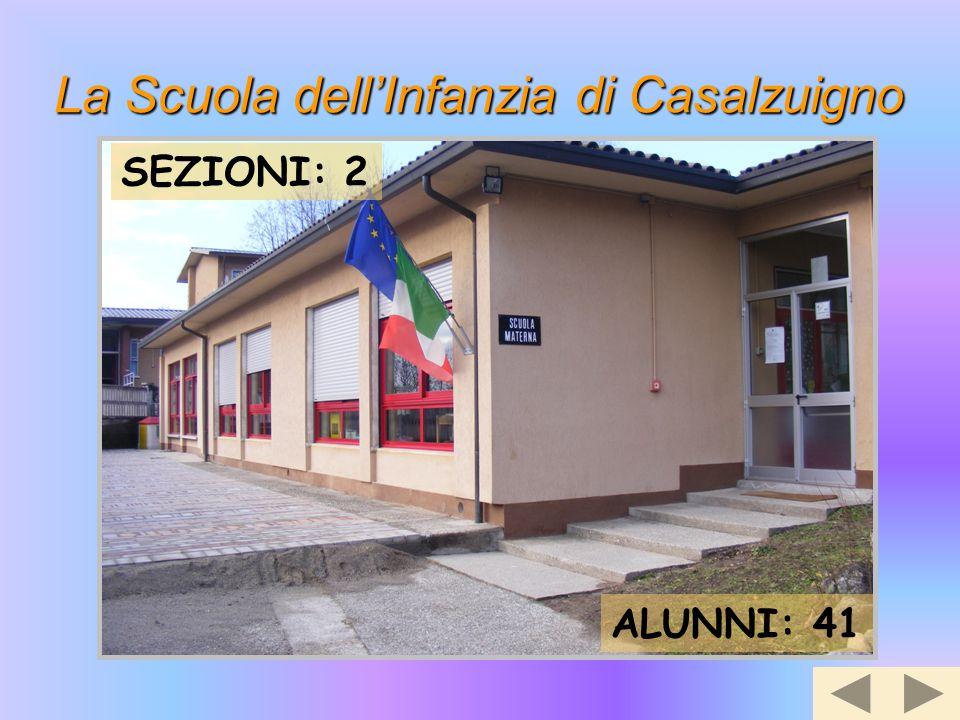 La Scuola dell'Infanzia di Casalzuigno SEZIONI: 2 ALUNNI: 41