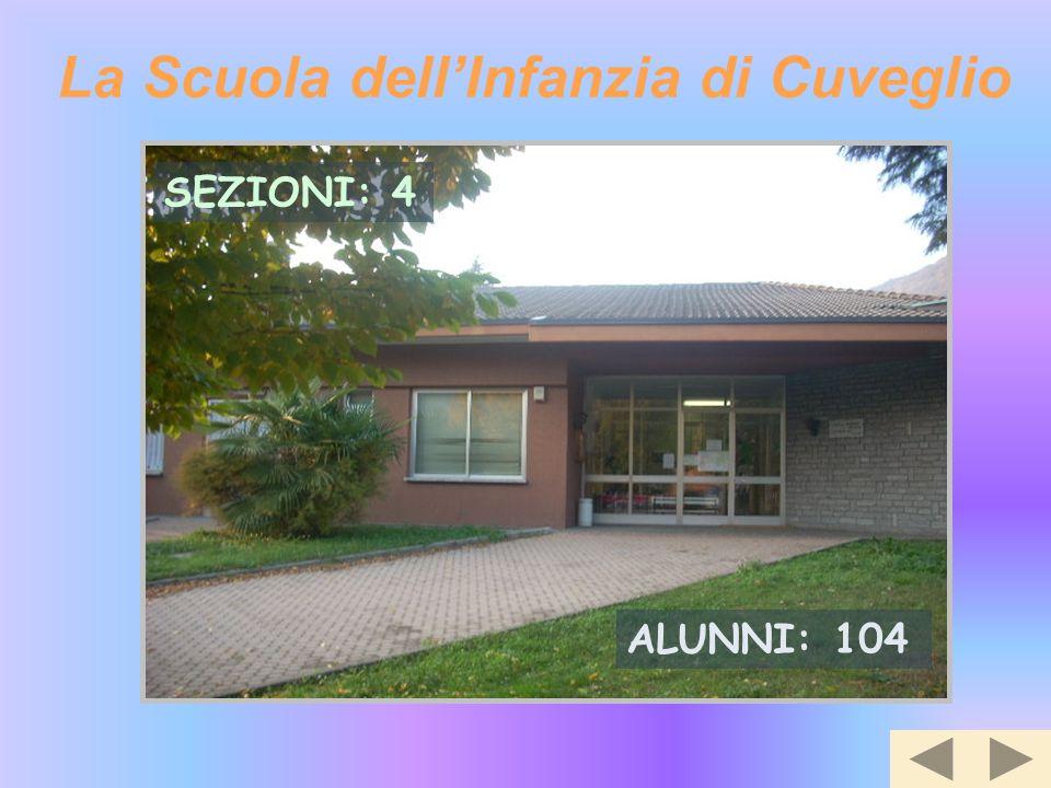 La Scuola dell'Infanzia di Cuveglio SEZIONI: 4 ALUNNI: 104