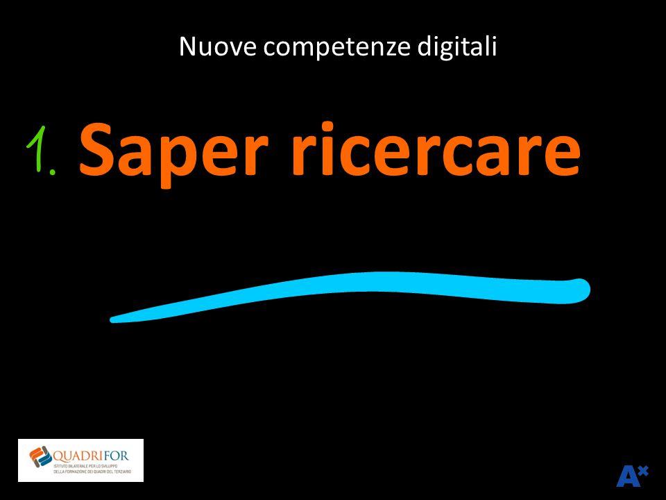 Nuove competenze digitali Saper ricercare