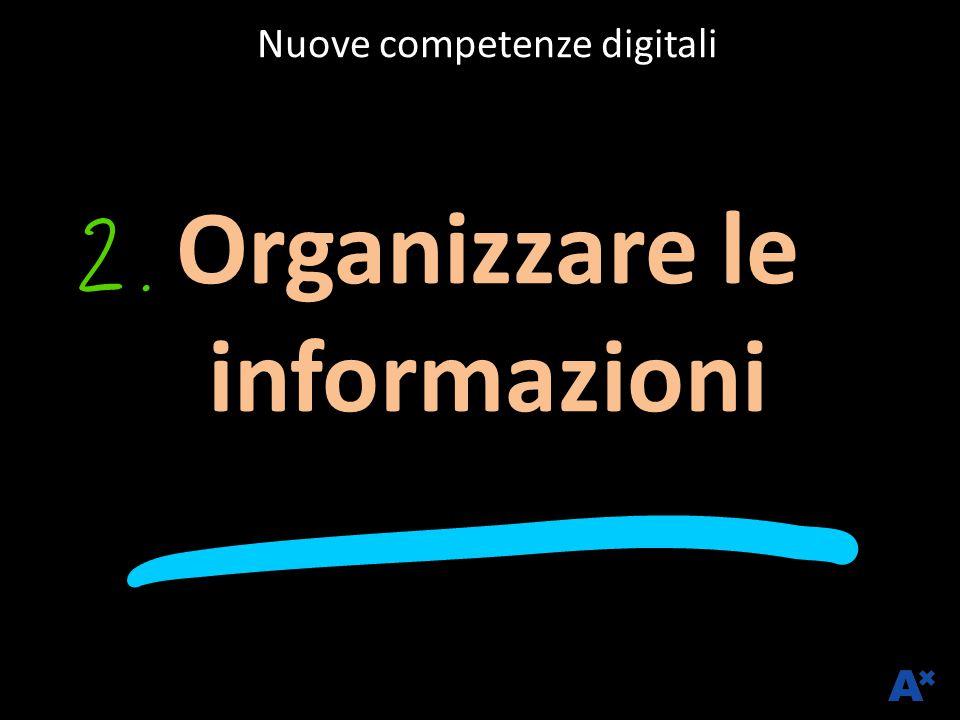Nuove competenze digitali Organizzare le informazioni