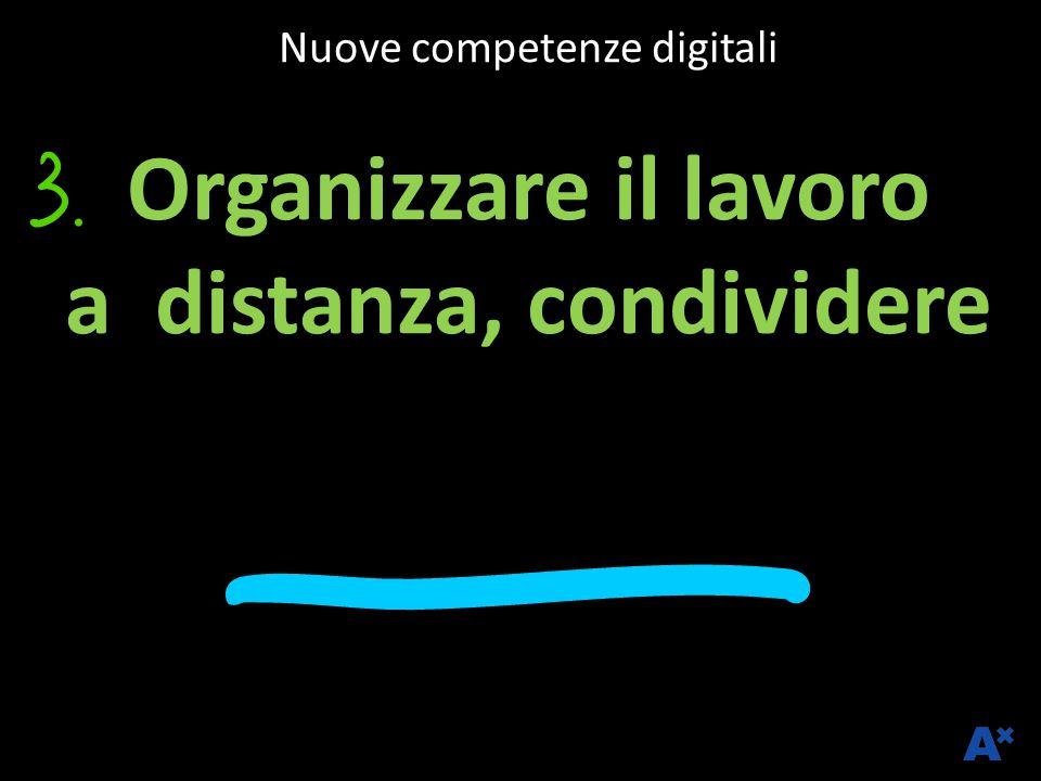Nuove competenze digitali Organizzare il lavoro a distanza, condividere