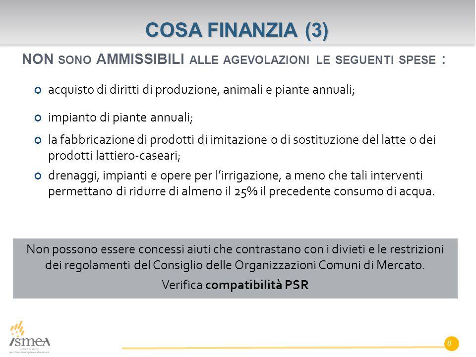 Non possono essere concessi aiuti che contrastano con i divieti e le restrizioni dei regolamenti del Consiglio delle Organizzazioni Comuni di Mercato.