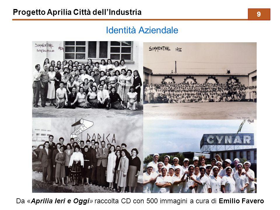 Progetto Aprilia Città dell'Industria Identità Aziendale Da «Aprilia Ieri e Oggi» raccolta CD con 500 immagini a cura di Emilio Favero 9