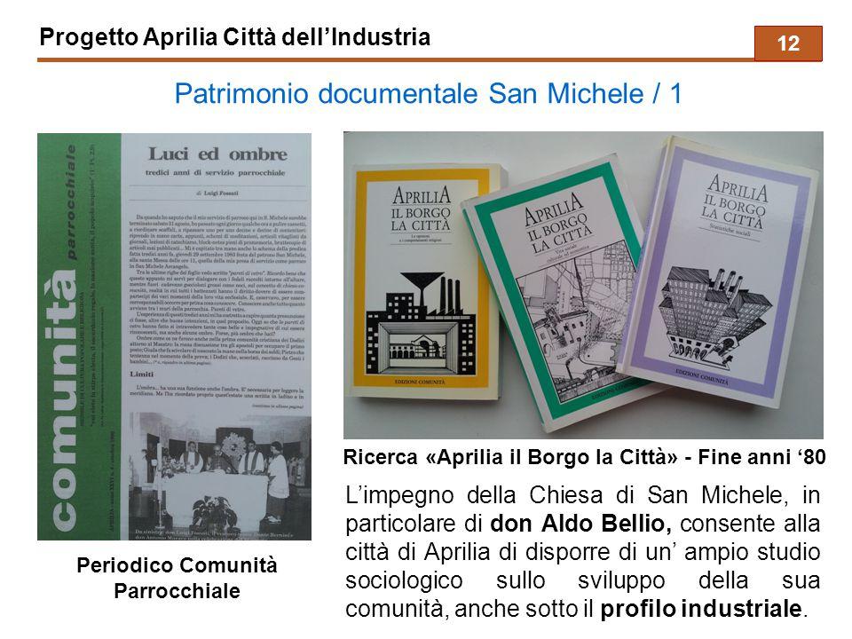 Progetto Aprilia Città dell'Industria Patrimonio documentale San Michele / 1 L'impegno della Chiesa di San Michele, in particolare di don Aldo Bellio,