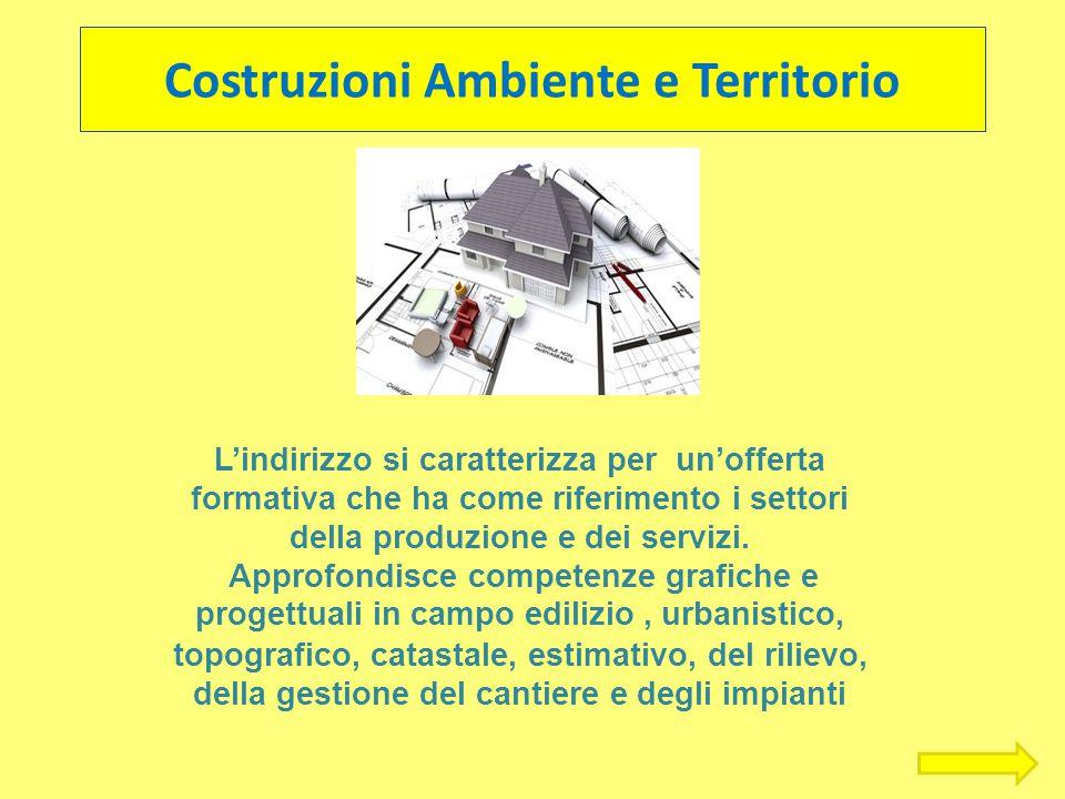 Costruzioni Ambiente e Territorio L'indirizzo si caratterizza per un'offerta formativa che ha come riferimento i settori della produzione e dei serviz