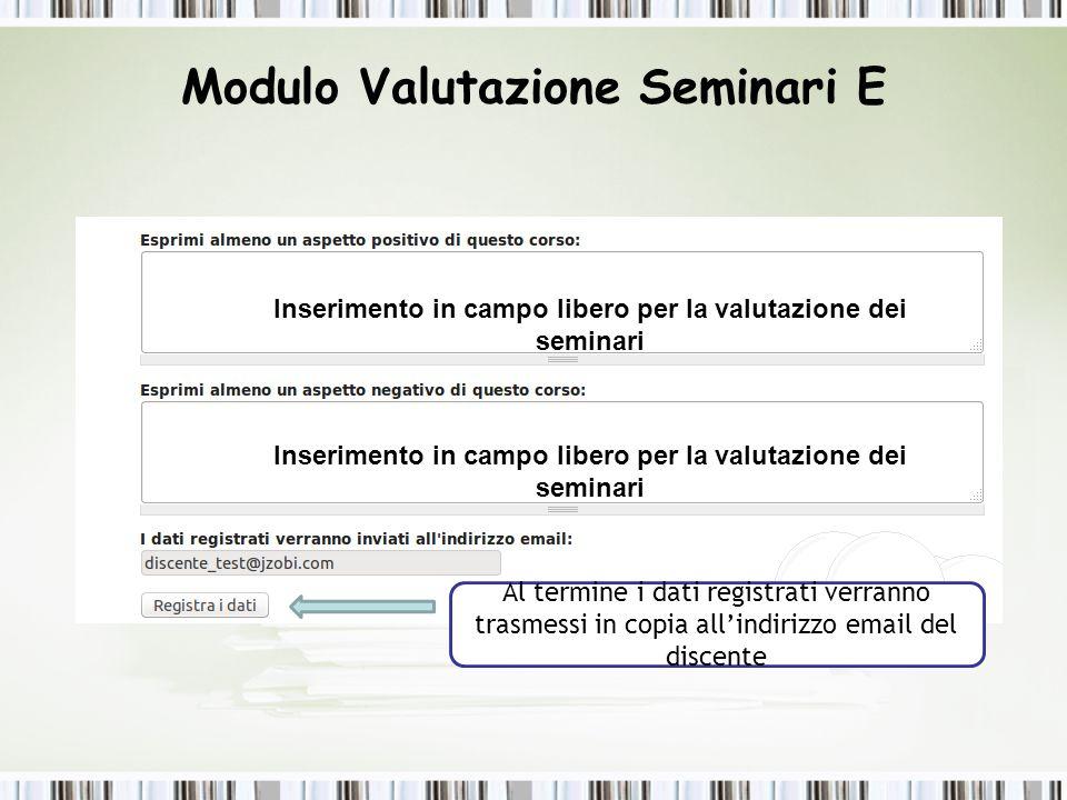 Passaggi per eliminare i doppioni delle valutazioni dei seminari Cliccare su valutazione seminario Dott.