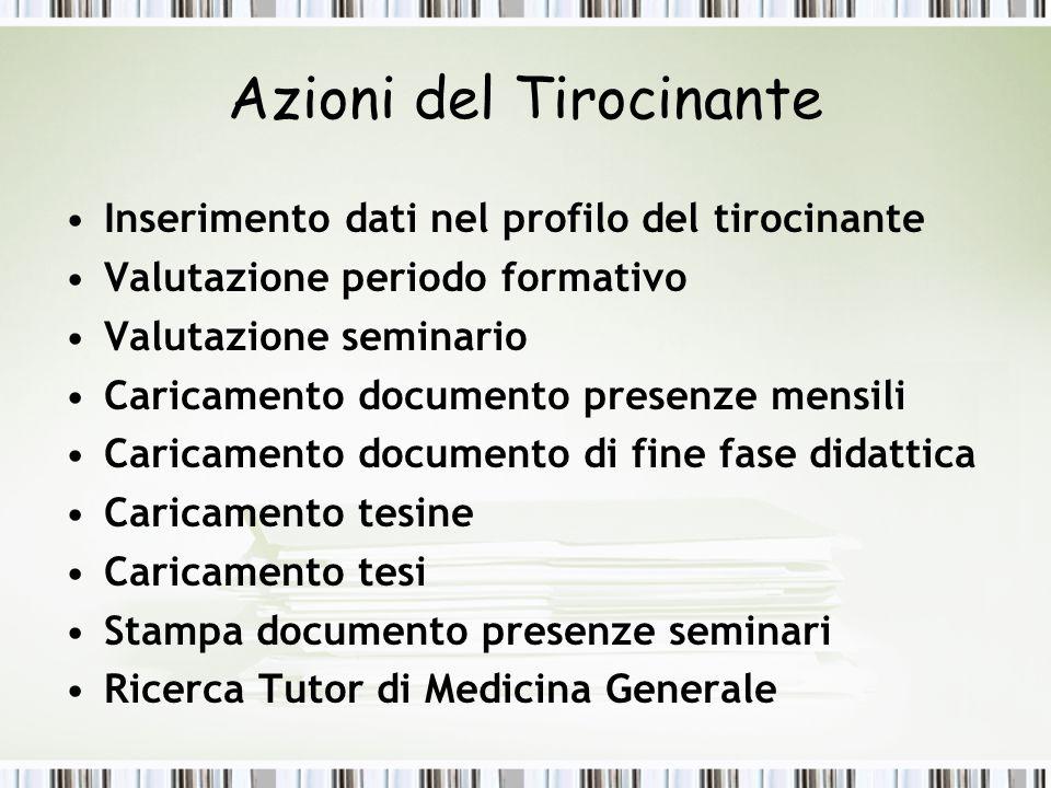 Profilo Tirocinante Dott.