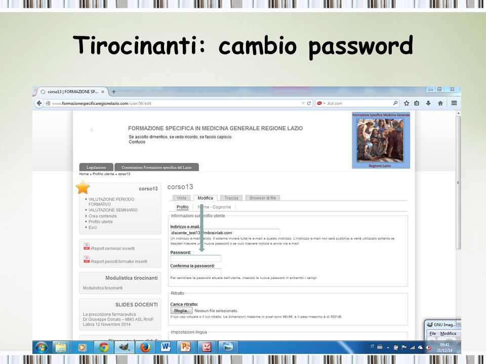 Tirocinanti: cambio password