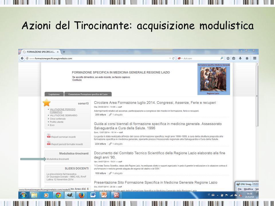 Tirocinanti: modulistica