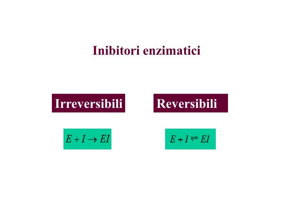 Inibitori enzimatici ReversibiliIrreversibili