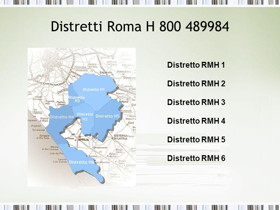 Distretti Roma H 800 489984 Distretto RMH 1 Distretto RMH 2 Distretto RMH 3 Distretto RMH 4 Distretto RMH 5 Distretto RMH 6