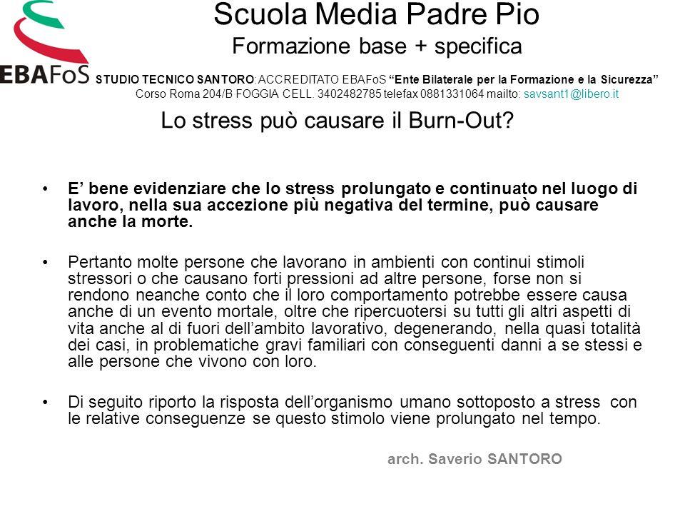 Lo stress può causare il Burn-Out.