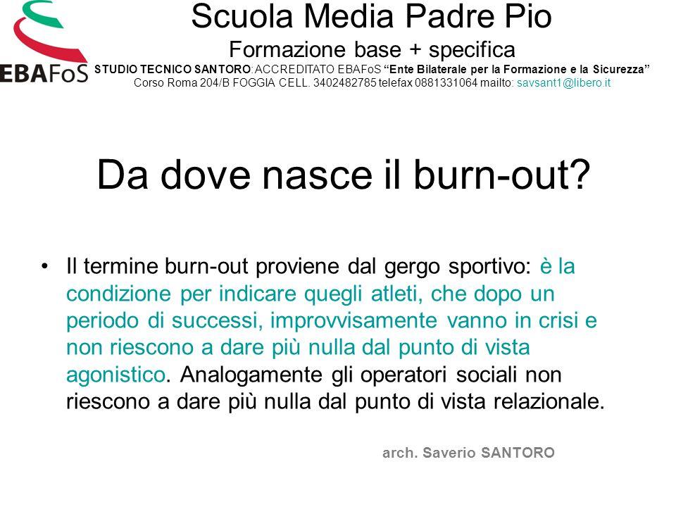 Da dove nasce il burn-out? Il termine burn-out proviene dal gergo sportivo: è la condizione per indicare quegli atleti, che dopo un periodo di success
