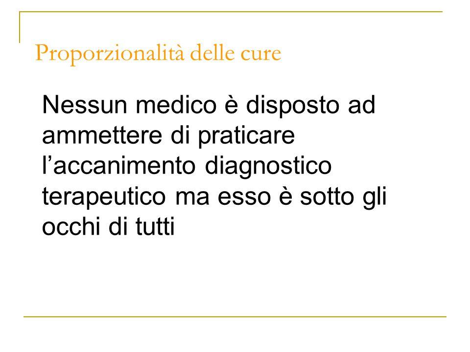 Proporzionalità delle cure Quali parole.