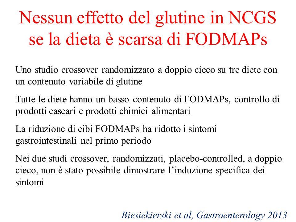 Nessun effetto del glutine in NCGS se la dieta è scarsa di FODMAPs Uno studio crossover randomizzato a doppio cieco su tre diete con un contenuto vari