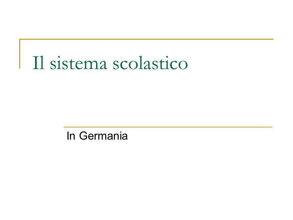 Il sistema scolastico In Germania