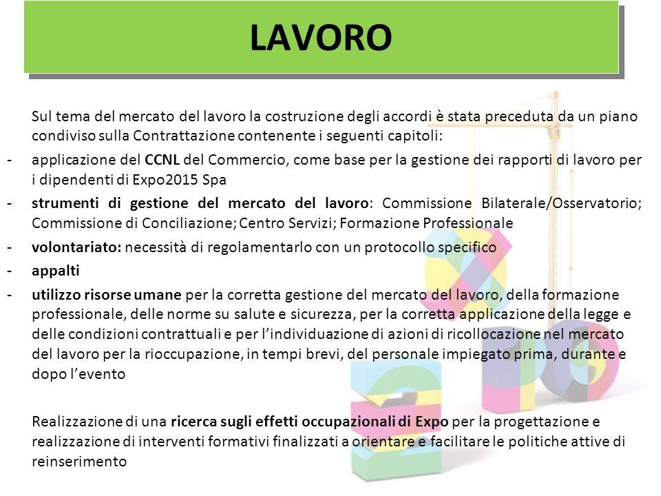 Sul tema del mercato del lavoro la costruzione degli accordi è stata preceduta da un piano condiviso sulla Contrattazione contenente i seguenti capito