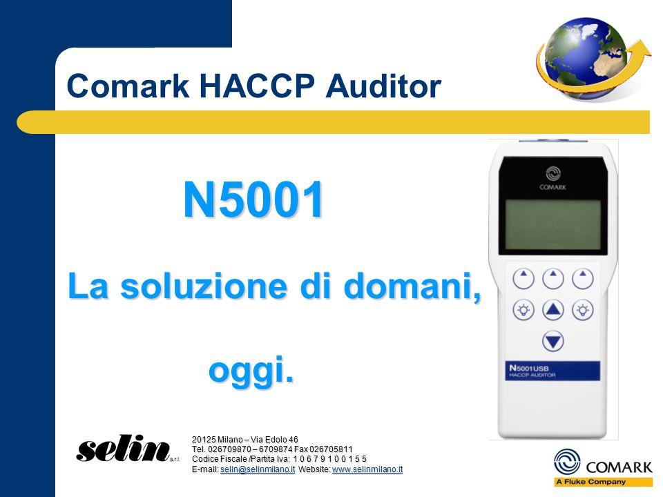 La soluzione di domani, Comark HACCP Auditor N5001 oggi. 20125 Milano – Via Edolo 46 Tel. 026709870 – 6709874 Fax 026705811 Codice Fiscale /Partita Iv