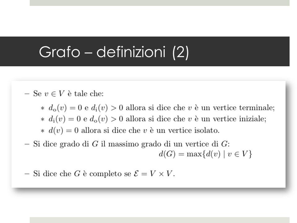 Grafo – definizioni (2)