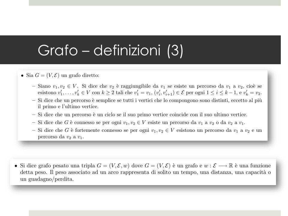 Grafo – definizioni (3)