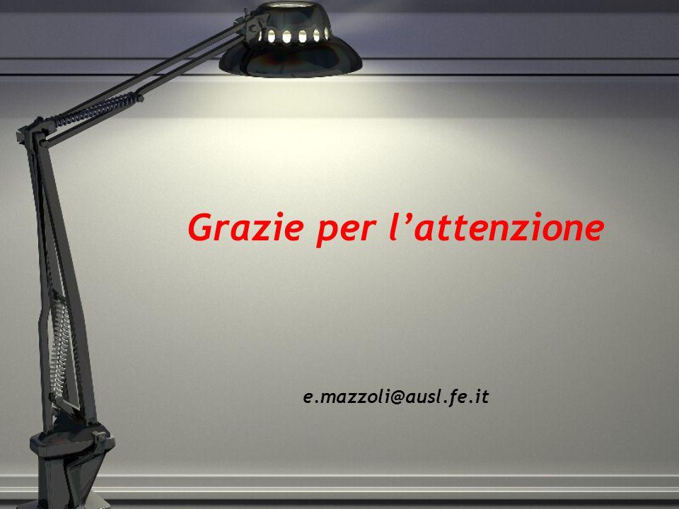 Grazie per l'attenzione e.mazzoli@ausl.fe.it