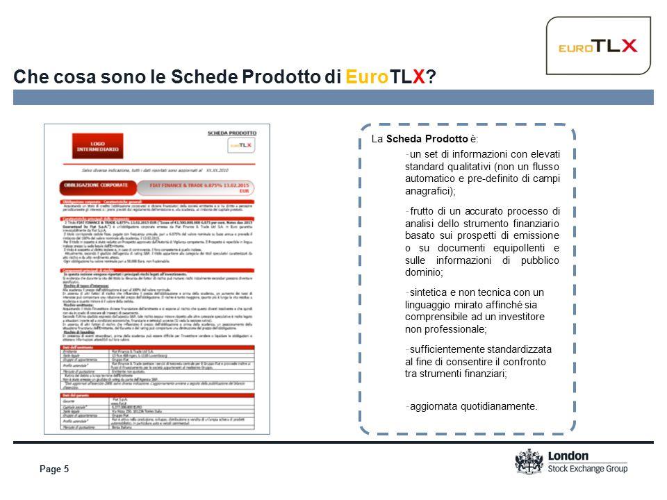 Page 5 Che cosa sono le Schede Prodotto di EuroTLX.