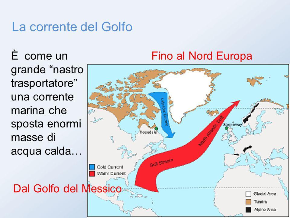 """La corrente del Golfo È come un grande """"nastro trasportatore"""" una corrente marina che sposta enormi masse di acqua calda… Dal Golfo del Messico Fino a"""