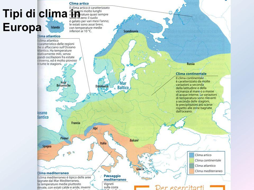Equatore Tipi di clima in Europa