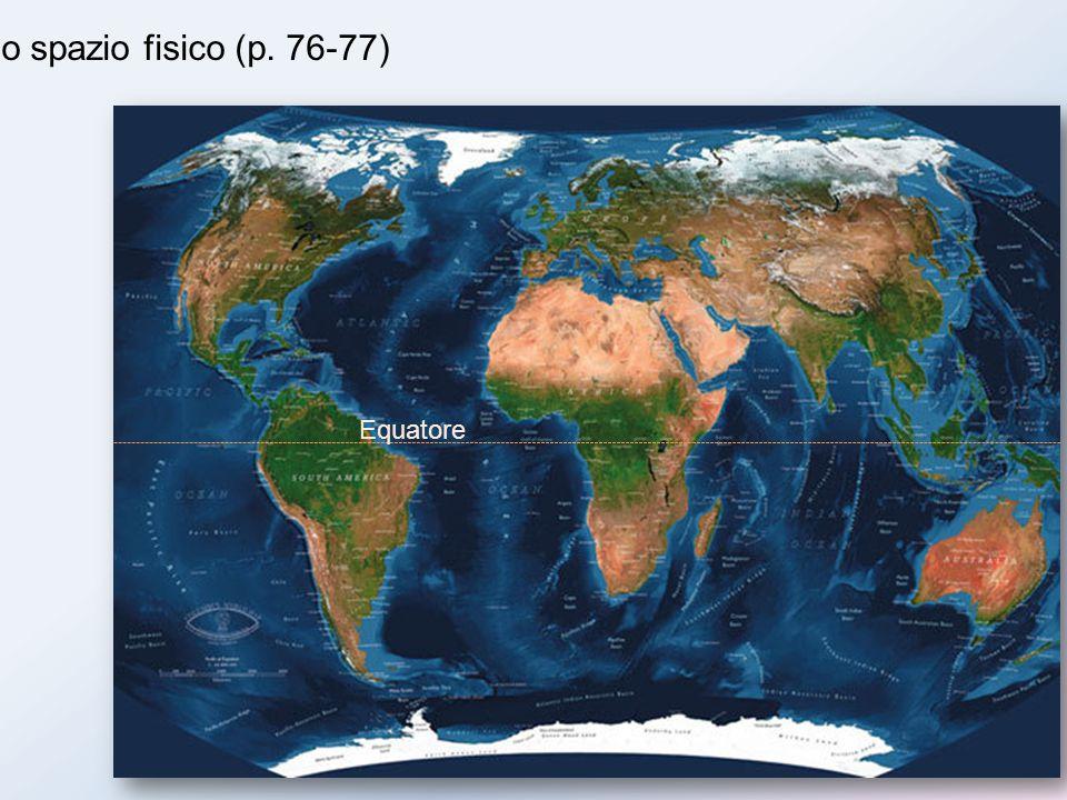 Lo spazio fisico (p. 76-77) Equatore