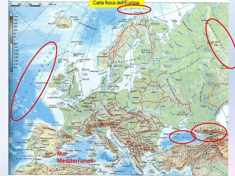 Pur essendo un continente dalle dimensioni ridotte, l'Europa presenta una grande varietà morfologica( pianure, montagne, colline, isole e penisole).