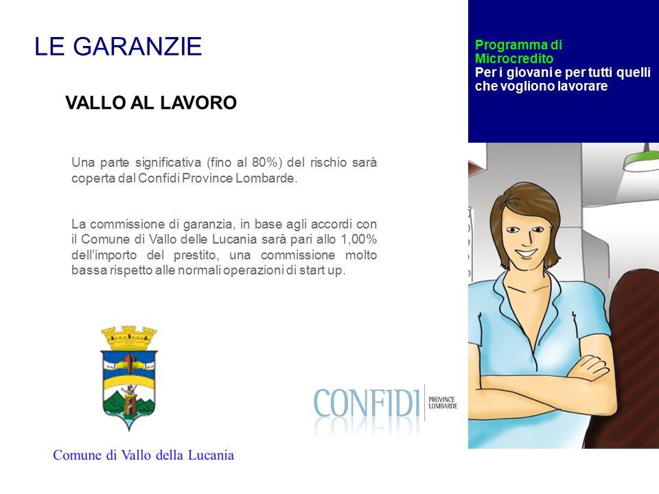 Una parte significativa (fino al 80%) del rischio sarà coperta dal Confidi Province Lombarde.