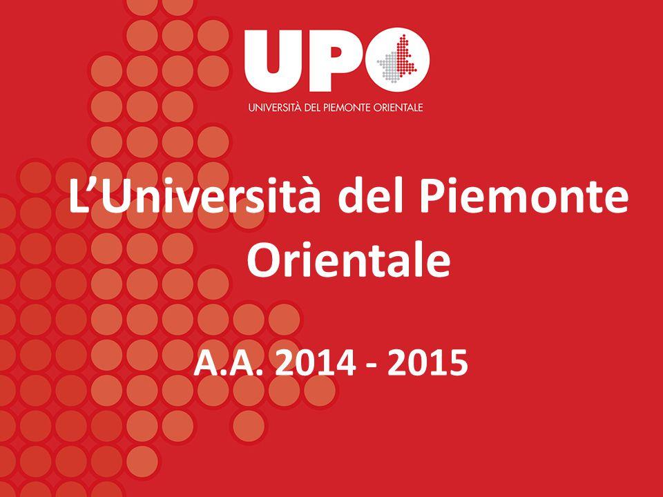L'Università del Piemonte Orientale A.A. 2014 - 2015