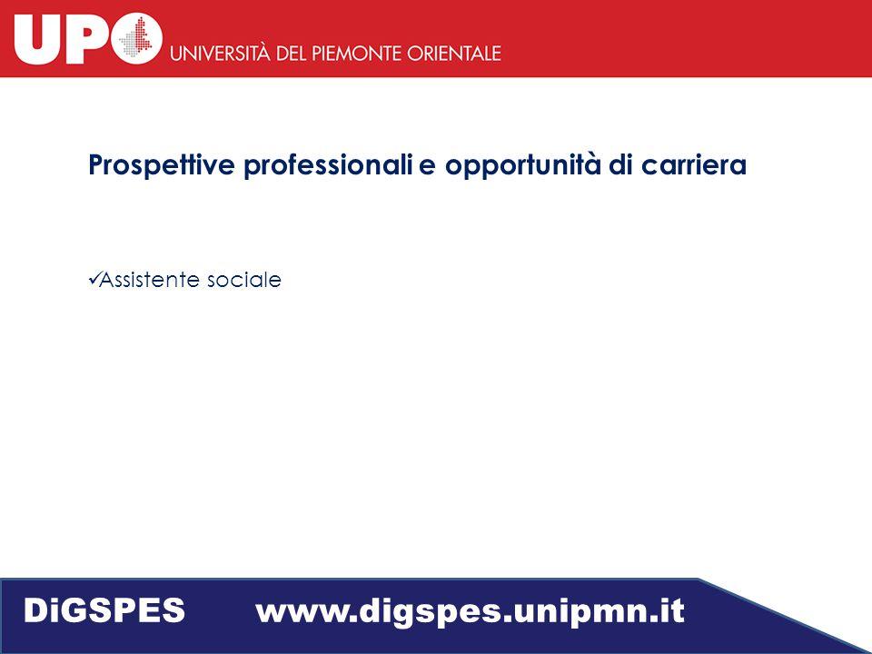 Prospettive professionali e opportunità di carriera Assistente sociale DiGSPES www.digspes.unipmn.it