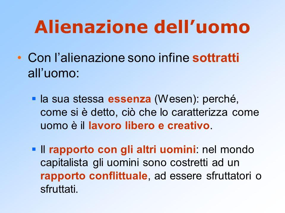 Con la scoperta che l'alienazione del lavoro è all'origine delle altre alienazioni (religiosa, politica, ecc.).