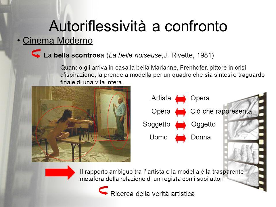 Autoriflessività a confronto La bella scontrosa (La belle noiseuse,J. Rivette, 1981) Cinema Moderno Quando gli arriva in casa la bella Marianne, Frenh