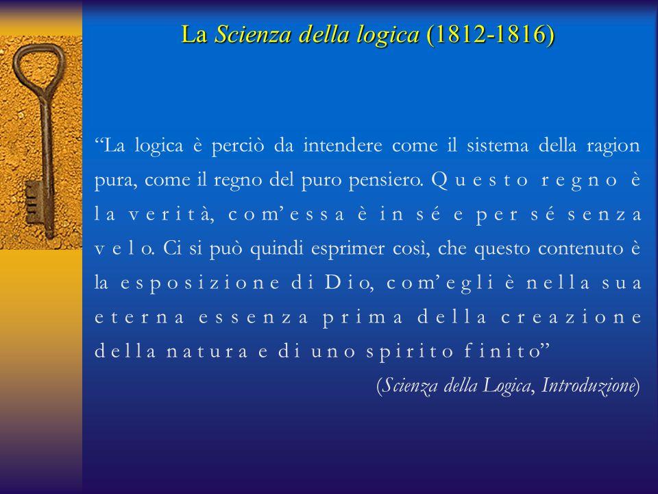 """""""La logica è perciò da intendere come il sistema della ragion pura, come il regno del puro pensiero. Q u e s t o r e g n o è l a v e r i t à, c o m' e"""